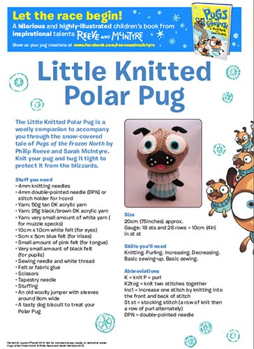 Pugs of the Frozen North knitting pattern download